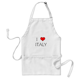 I Love Italy Adult Apron