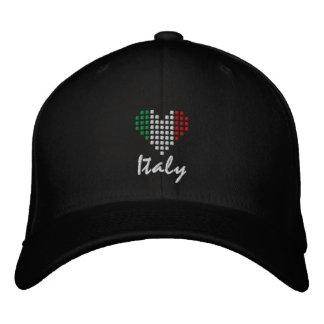 I Love Italy - Amo l'Italia Hat Embroidered Hats