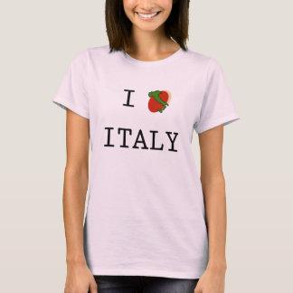 I Love Italy Boot Womens T-Shirt