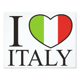 I Love Italy Card