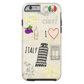 I Love Italy Tough iPhone 6 Case