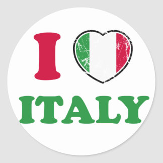 I Love Italy Classic Round Sticker