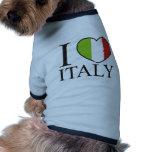 I Love Italy Doggie T-shirt