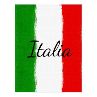 I love Italy.Flag of Italy. Postcard