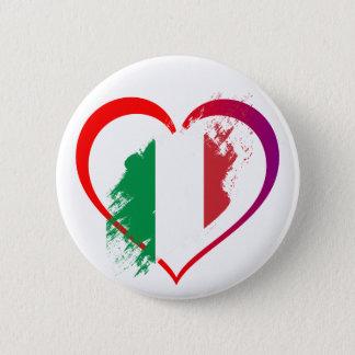 I love Italy - heart button