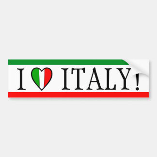 I Love Italy Heart Flag Bumper Sticker