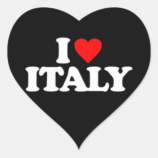 I LOVE ITALY HEART STICKER