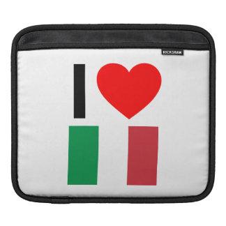 i love italy iPad sleeves