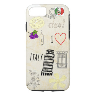 I Love Italy iPhone 7 Case