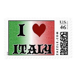 I Love Italy Italian Flag Postage Stamps