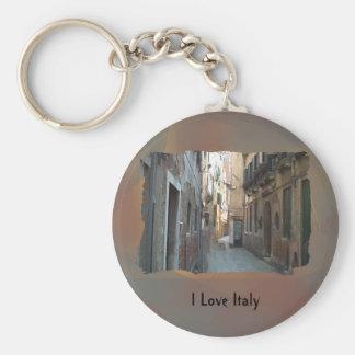 I Love Italy - Italian Side Street Keychain