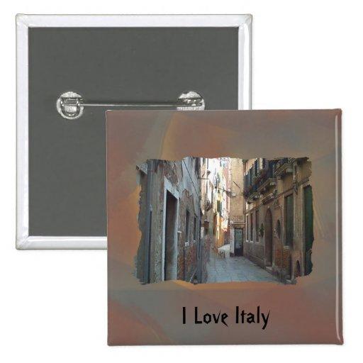 I Love Italy - Italian Side Street Pins