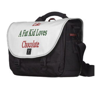 I Love Italy Like A Fat Kid Loves Chocolate Laptop Messenger Bag