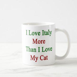 I Love Italy More Than I Love My Cat Classic White Coffee Mug