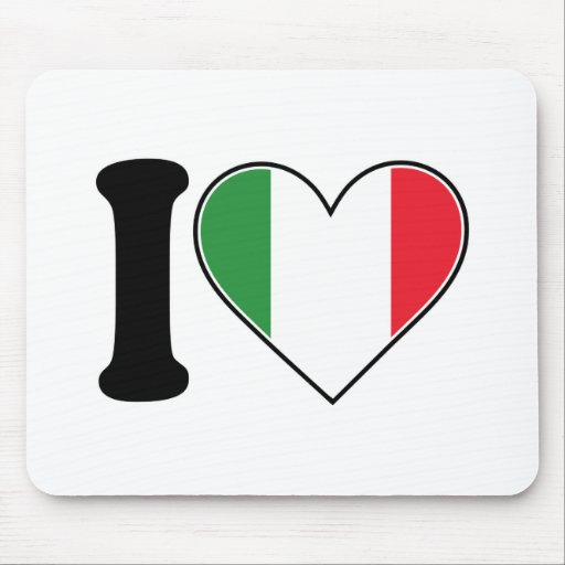 I Love Italy Mouse Mats