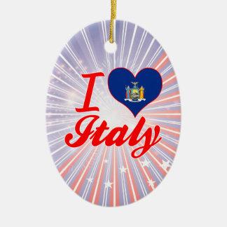 I Love Italy, New York Christmas Tree Ornament