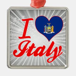 I Love Italy, New York Christmas Tree Ornaments