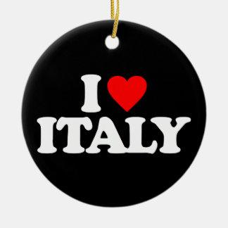 I LOVE ITALY CHRISTMAS TREE ORNAMENTS