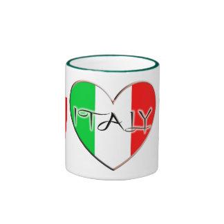 I LOVE ITALY RINGER MUG