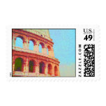 I Love Italy - Ruins of Ancient Rome Colosseum Stamp