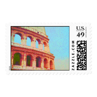 I Love Italy - Ruins of Ancient Rome Colosseum Stamps