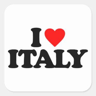I LOVE ITALY SQUARE STICKER