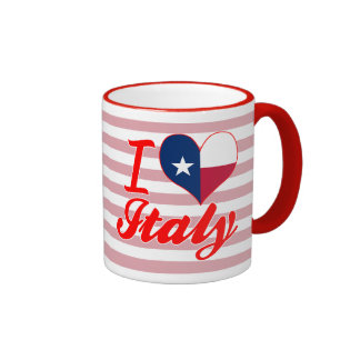 I Love Italy, Texas Ringer Coffee Mug