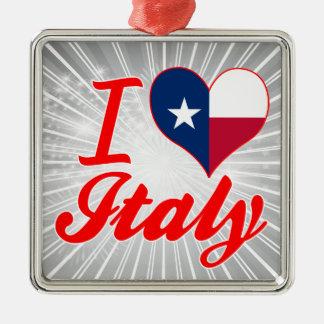 I Love Italy, Texas Christmas Ornament
