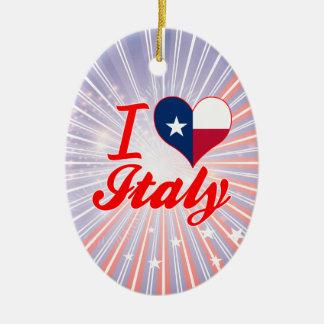 I Love Italy, Texas Ornaments