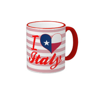 I Love Italy, Texas Ringer Mug