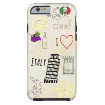 I Love Italy Tough iPhone 6 Case