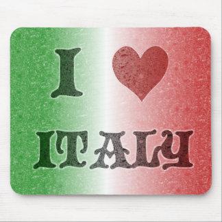 I Love Italy Vintage Flag Mousepad