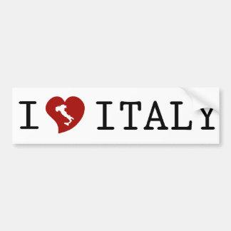 I Love Italy White Bumper Sticker