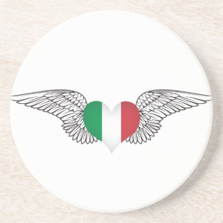 I Love Italy -wings Drink Coaster