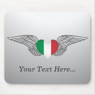 I Love Italy -wings Mouse Pad