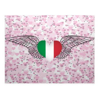 I Love Italy -wings Postcard