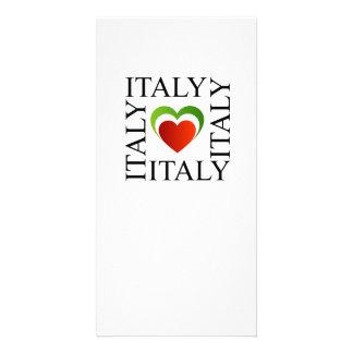 I love italy with italian flag colors card