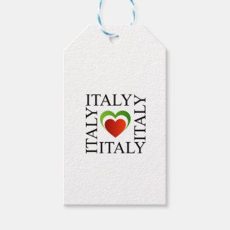I love italy with italian flag colors gift tags