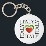 "I love italy with italian flag colors keychain<br><div class=""desc"">I love italy with italian flag colors</div>"