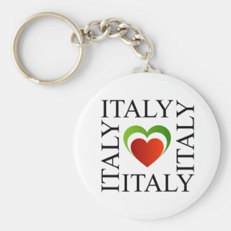 I love italy with italian flag colors keychain