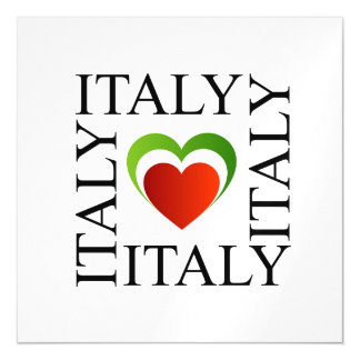 I love italy with italian flag colors magnetic card