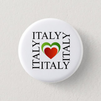 I love italy with italian flag colors pinback button