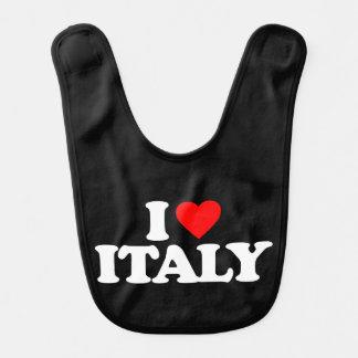 I LOVE ITALY BABY BIB
