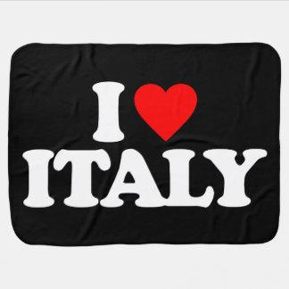 I LOVE ITALY BABY BLANKETS