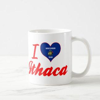 I Love Ithaca, Wisconsin Classic White Coffee Mug
