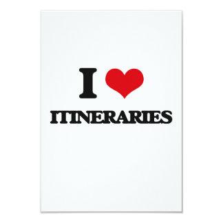 I Love Itineraries Invitation Card