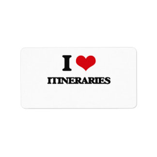 I Love Itineraries Address Label