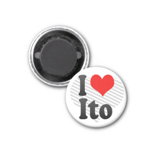 I Love Ito, Japan 1 Inch Round Magnet