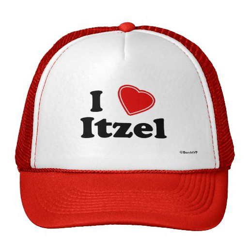 I Love Itzel Trucker Hat
