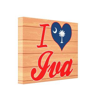 I Love Iva, South Carolina Gallery Wrapped Canvas